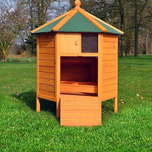 """ZooPrimus Hühner-Stall Nr 28 Geflügel-Voliere """"HÜHNER-PAVILLON"""" Enten-Haus für Außenbereich (Geeignet für Kleintiere: Hühner, Geflügel, Vögel, Enten usw.) - 4"""