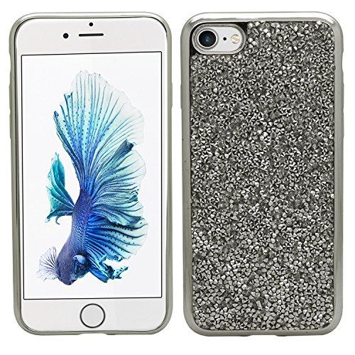 SAMRICK Kristall metallic Bumper Slimline Schutzhülle Schutz Gel für Apple iPhone 7–gold-parent, silber, Apple iPhone 7 silber