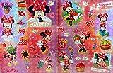 Lizenzartikel 2 Bögen Minnie Maus 26 x 20 cm Sticker Aufkleber Deko Scrapbook GAC C61