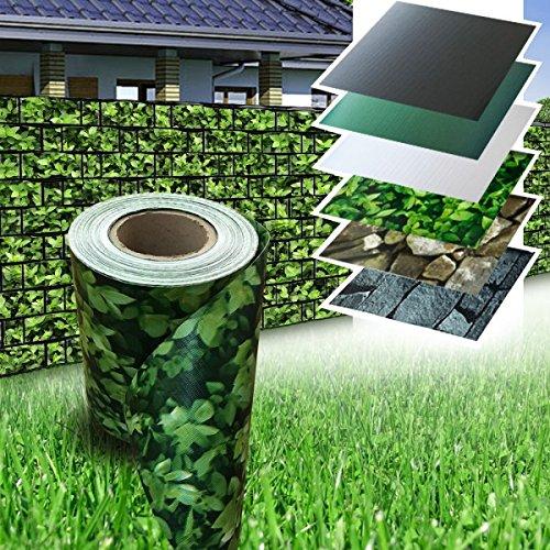 Wohnstyle24 PVC Zaun Sichtschutz Sichtschutzfolie Buchsbaum 35 m Rolle Doppelstabmatten Windschutz Sichtschutzstreifen