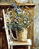 GMMH Dipingere con i numeri 40x 50cm Set completo neuerscheinungen disegni da colorare con cornice di legno truciolare perfetto per hobby pittore (gx9884)