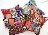 Set von 4Kantha Kissenbezug Sofa-Set, Baumwolle handgefertigt Patch Home Decor Sofa Kissen Fall Vintage Style aakriti Galerie (41x 41cm)