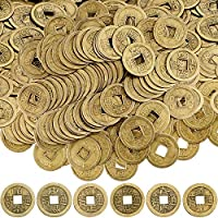 Boao Chinese Feng Shui Coins Good Luck Fortune Coin I-ching Coins for Health and Wealth (100, 1.1 Inch)