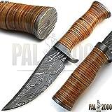LAME E COLTELLI 9105 coltello artigianale in acciaio damasco con guaina in cuoio collezione di coltello coltello di alta qualità al 100%