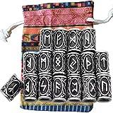 MYAROMA FINDINGS Lot de 24 Perles de Runes Vikings Nordiques pour Barbe, Cheveux,...