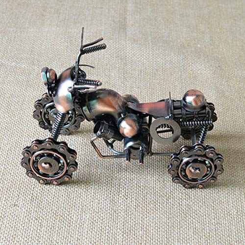 MEIDI Home Große schmiedeeiserne Kette Motorrad Couchtisch Dekoration glattes minimalistisches modernes Haus kreative Dekoration Wohnzimmer Dekoration - Schmiedeeiserne Kette