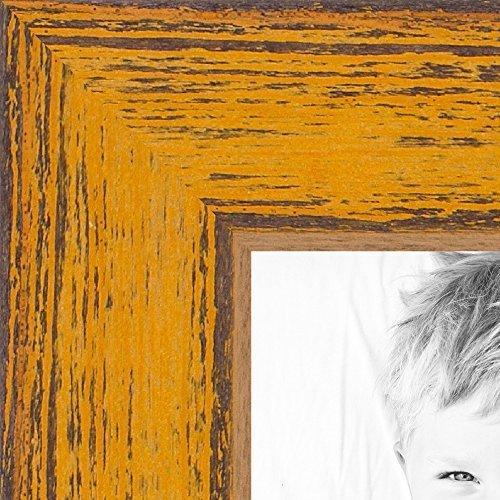 arttoframes 38,1x 45,7cm Butterscotch Rustikal Barnwood Holz Bilderrahmen, wom0066–1343-yyel-15X 18