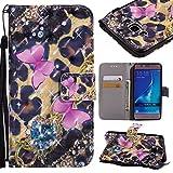 Phone Taschen & Hülle Für Samsung Galaxy J5 2016 J510, 3D Glitter Painted Design PU Leder Folio Schlag-Kasten-Mappen-Standplatz-Abdeckung für Samsung-Galaxie J5 2016 J510 Hülle Samsung