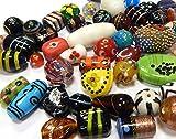 1 kilo Mix Indian Posten Perles en verre Perles en verre Perles rondes argentées Convolute multicolore Kit de bricolage pour création de colliers Bracelet bricolage Bijoux bricolage bijoux