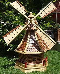 Xxl deko shop hannusch moulin vent d coratif pour le jardin no l avec toit - Moulin a vent decoratif ...