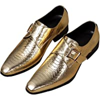 Rui Landed Oxford for Men Formal Shoes Slip On Style Premium Monk Leather Monk Strap Point Low Top Block Heel Tinta…