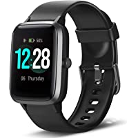 LETSCOM Smartwatch, Fitness Tracker 1.3 inch color display watch with heart rate monitor ...