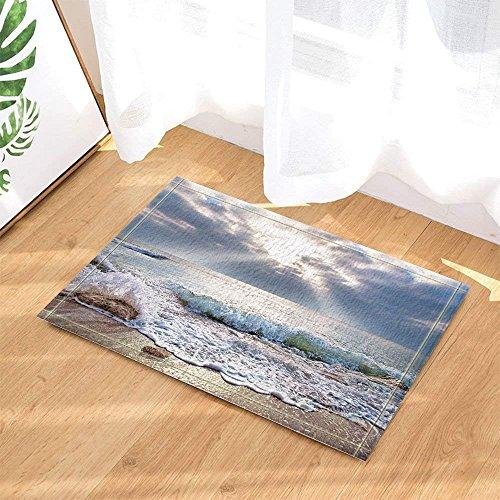 BuEnn Natura Scenario Decor Ocean Beach Welle gegen Sonneneinstrahlung Antirutschmatte Zerbini...