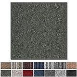 Teppichfliesen Vienna selbstliegend | hochwertiger Bitumen Rücken | strapazierfähiger Bodenbelag für Büro und Gewerbe | je 50x50 cm (grün - 4 Stück = 1qm)