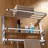 JIUCHANPIN Handtuchregal,Raum aluminium bad handtuchhalter 3-tier-handtuch rack Wand handtuchhalter rack-A
