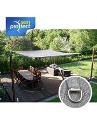 sunprotect Sonnensegel professional, 3,5x4,5m, Rechteck, grau-silber