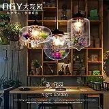 Ysddian Skandinavische moderne Restaurant Glas Lampe kreative Persönlichkeit Schlafzimmer Studie Wohnzimmer Licht Bar Bar Blume aus Murano-glas, 20 x 21 cm
