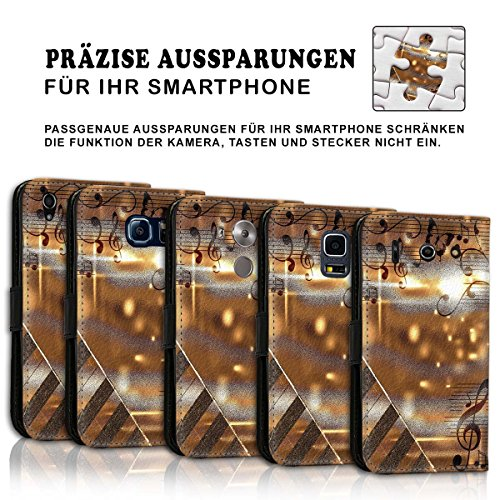 Wallet Book Style Flip Handy Tasche Case Schutz Hülle Schale Motiv Etui für Apple iPhone 4 / 4S - Variante UMV20 Design12 Design 2