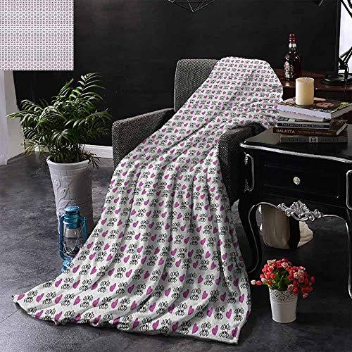 Couch-Decke mit lebendigen Zebrafell-Motiven in heißem Farbton Afrikische Tier-Safari Mode Bild beschwert für Erwachsene Kinder Besserer tiefer Schlaf, Polyester, Farbe08, 60