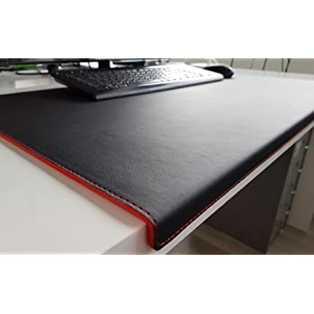 Angled Desk Mat With Edge Protector Soft Lux Leather 60 X