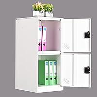 MECOLOR Petit casier vertical à un niveau avec cadenas 2 ou 3 compartiments de rangement pour employé, maison, bureau…