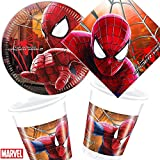 36-teiliges Partyset * AMAZING SPIDERMAN 2 * von MARVEL // Teller + Becher + Servietten // Kindergeburtstag Geburtstag Party Set Kinder Mottoparty