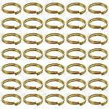 BronaGrand - 200 llaveros pequeños de oro para organizar llaves, 10 mm de diámetro