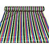 Satin stoff karneval gedruckt gestreift multicolor-baiadera