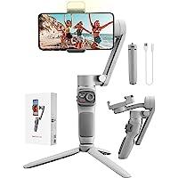 Zhiyun Smooth Q3 Gimbal Smartphone, 3 Assi Stabilizzatore Smartphone con luce di riempimento, Controllo gestuale, per…