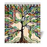 Violetpos Duschvorhang Bunten Baum Bunte Hochwertige Qualität Badezimmer 160 x 180 cm