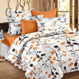 Story@Home 186 TC Cotton Single Bedsheet with 1 Pillow Cover - White