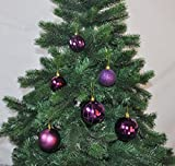 30x Christbaumkugeln 6+8 cm Kunststoff Matt Glanz Glitzer Braun / Lila / Pink, Farbe:Lila