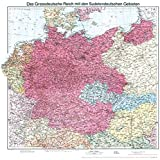 Historische Karte: Deutschland 1938 - Das Großdeutsche Reich mit dem Sudetendeutschen Gebieten (plano): Deutsche Reich - Sudetenland