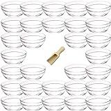 Viva-Haushaltswaren - 30 mini-glazen schaaltjes voor kookingrediënten, specerijen, dips, tapas etc. Ø 6 cm, incl. een kleine