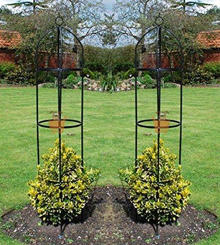 Generic.. Unterstützte klingeltonformate ROS Unterstützung Rosen Obelisk C Kletterpflanzen ES Met Metall Arch RT Rosen set-of-2Garten Obelisk 1,9m hoch Paar 1,9m Hohe Paar