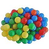 Bällebad bestehend aus 200 Bällen Ø 5,5 cm - Rot, Gelb, Grün und Blau