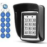 OBO HANDS 10 RFID sleutelhangers + regenhoes + toetsenbord van metaal, RFID ondersteunt 1000 gebruikers, interface Wiegand-26