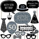 Erwachsene 50. Geburtstag–silber–Photo Booth Requisiten-Set–20-fädig