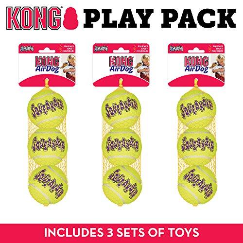 Kong Squeak Air - Pelota Tenis Juguete Perro, tamaño