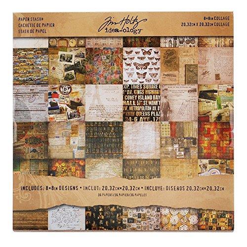 Idea-Ology Paper Stash Carta Decorativa 8'X8' 36/Sheets-Collage