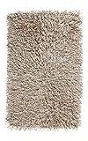 Badteppich 80x160 Kemen Dunkelgrau Silbergrau Taupe Sand Aquanova Langflor, Farbe:Sand