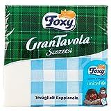 Foxy–Servilletas doppiovelo, grantavola escocés–9paquetes de 43piezas [387unidades]