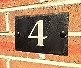 Placa de pizarra para número de casa, 10x15cm