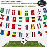Flagge Fahne WM 2018 Flagge in Russland alle 32 Teilnehmer | Deutschland Flagge (32 Teilnehmer*2)