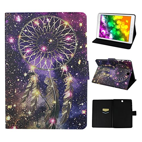 Galaxy Tab A 9.7 T550 Tablette Flip Cas, Asnlove Coque Tablette PU Cuir Housse Fente pour Carte Fermoir Magnétique Support Flip Étui Protection Smart Cover Case Protection Housse Étui Protection Pochette pour Samsung Galaxy Tab A 9.7 SM-T550 T555