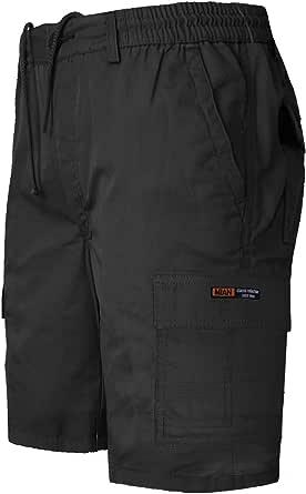 GA COMMUNICATIONS Mens Plain Shorts Cargo Combat Casual Summer Beach Cotton 7 Pockets Pants Plus Size M-6XL