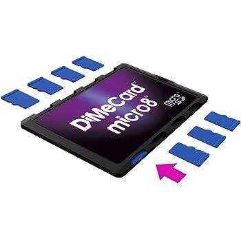 DiMeCard micro8 microSD Memory Card Holder (Ultra thin credit card size holder, writable label)