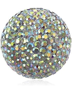 Engelsrufer Damen-Anhänger Klangkugel Crystal Messing Glas weiß - ERS-01-ZI-L