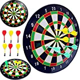 "16"" Official Size Magnetic Dartboard w/ 6 Darts Included OR 18"" Magnetic Dart Board With Darts"
