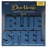 Dean Markley 2034 Jeu de cordes pour guitare acoustique Bluesteel Bronze L 11-14-22-30-36-46
